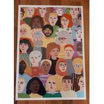 A2 poster 'kopjes' getekend door Ellen de Bruijn